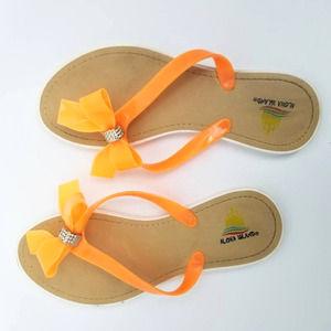 Aloha Island Flip Flop Orange Bow Thong Sandals